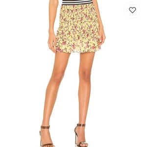 For love and lemons NWT SM yellow floral skirt !